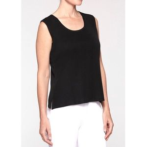 NWT Ming Wang Scoop Neck Knit Tank (size L)